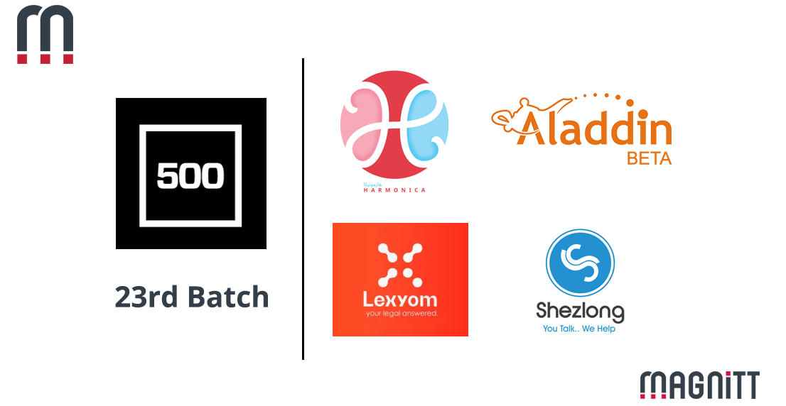 4 MENA startups make it to 500 Startups' 23rd Batch