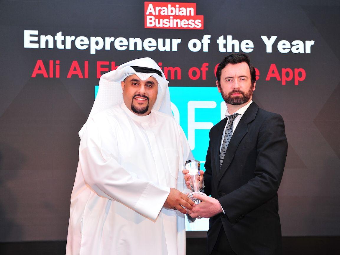 "COFE App Founder Ali Al Ebrahim Named ""2019 Entrepreneur of the Year"" by Arabian Business Magazine"