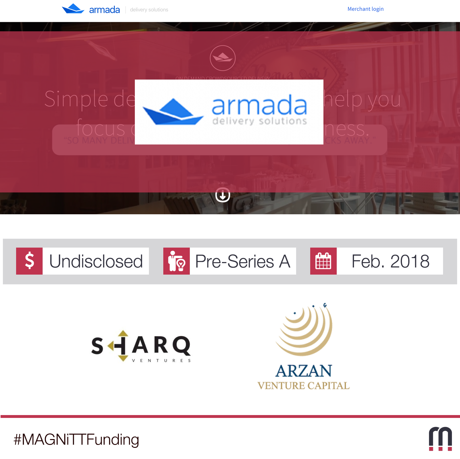 Armada delivery solutions raises a Pre-Series A round with Sharq Ventures