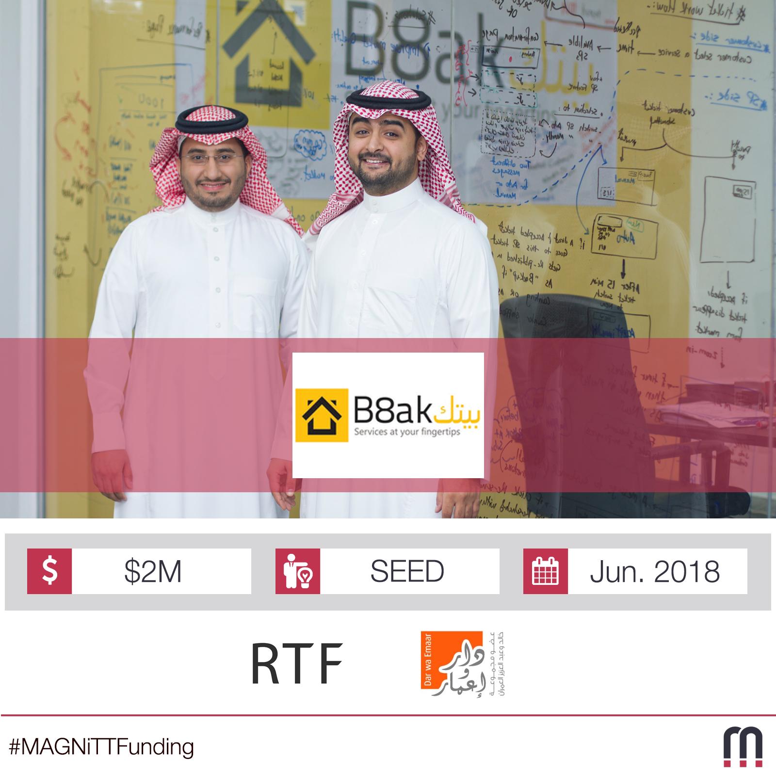 B8ak closes a SEED round of $2M led by Riyad TAQNIA Fund
