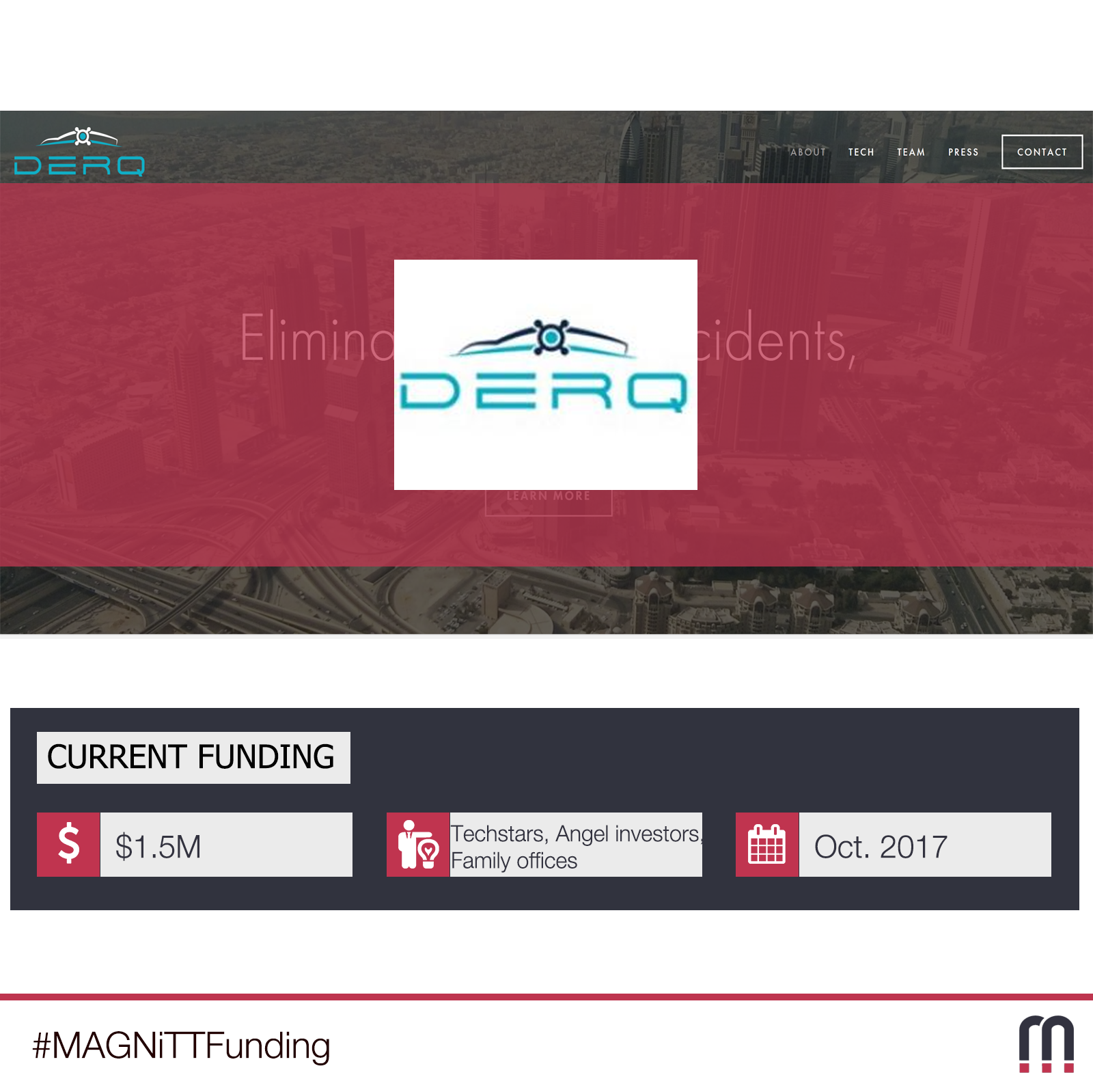 DERQ SECURES $1.5M IN SEED FUNDING TO ELIMINATE ROAD ACCIDENTS AND SAVE LIVES