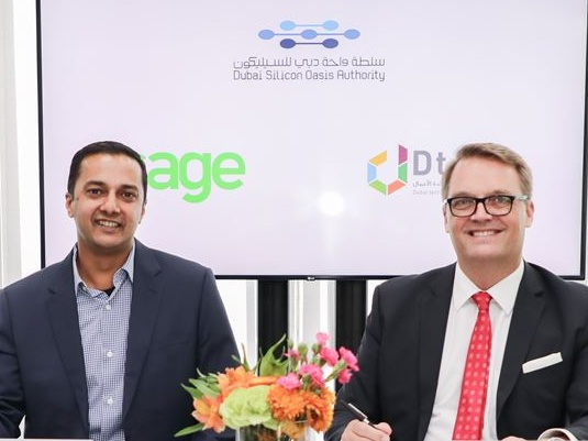 Dubai Technology Entrepreneur Centre signs a one-year long non-exclusive strategic partnership deal with Sage- the market leader in cloud business management solutions