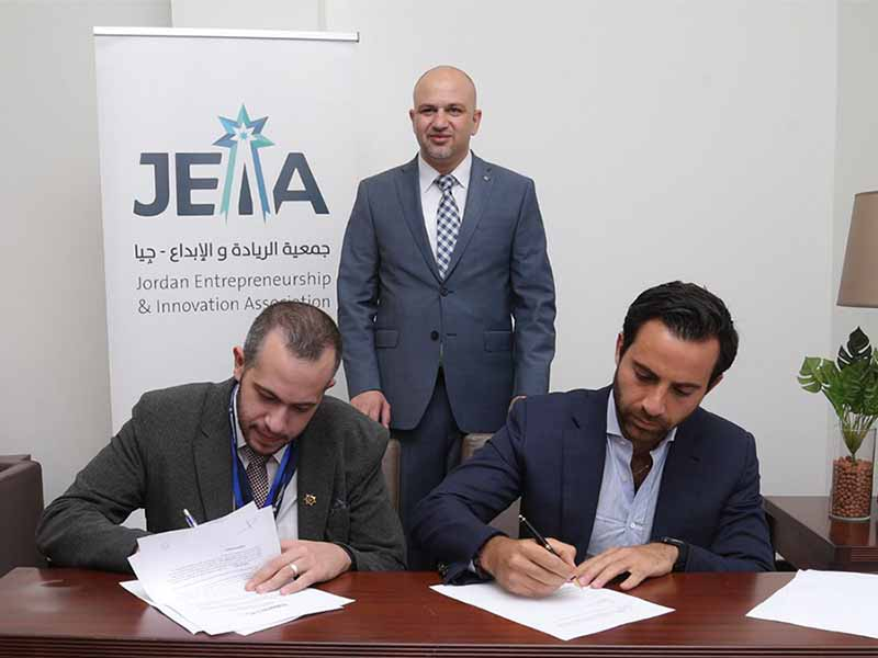 Partnership agreement between MAGNiTT and the Jordan Entrepreneurship and Innovation Association to promote Jordanian founders abroad