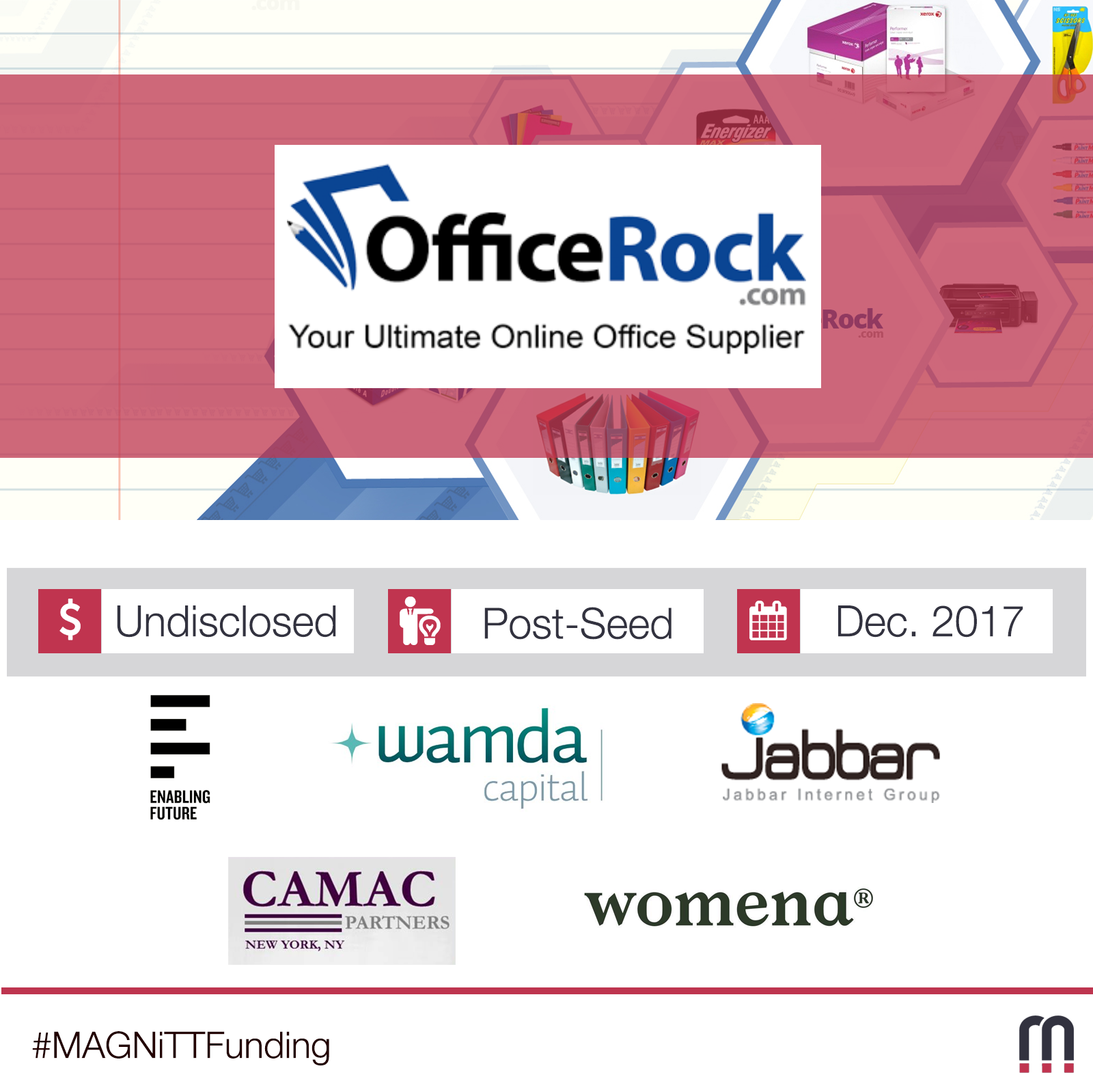 OfficeRock.com Raises Funds From Enabling Future, Jabbar Internet Group, And Other Investors
