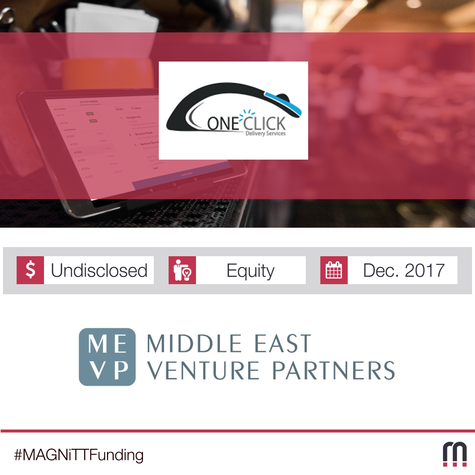 UAE-based on-demand delivery app One Click Delivery raises funding by MEVP