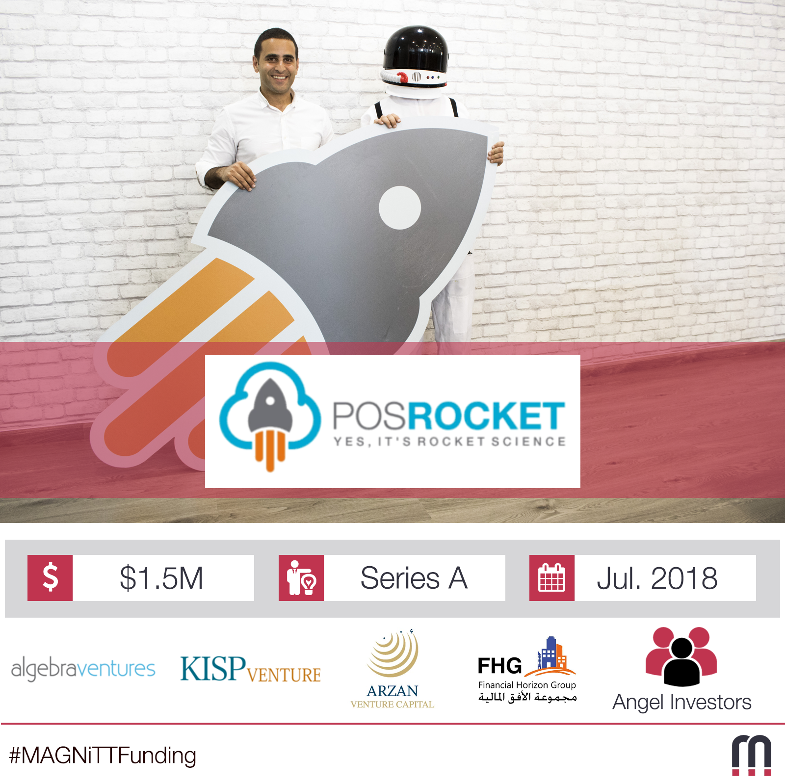 POSRocket, a cloud-based Point-of-sale platform, raises $1.5 million in round led by Algebra Ventures