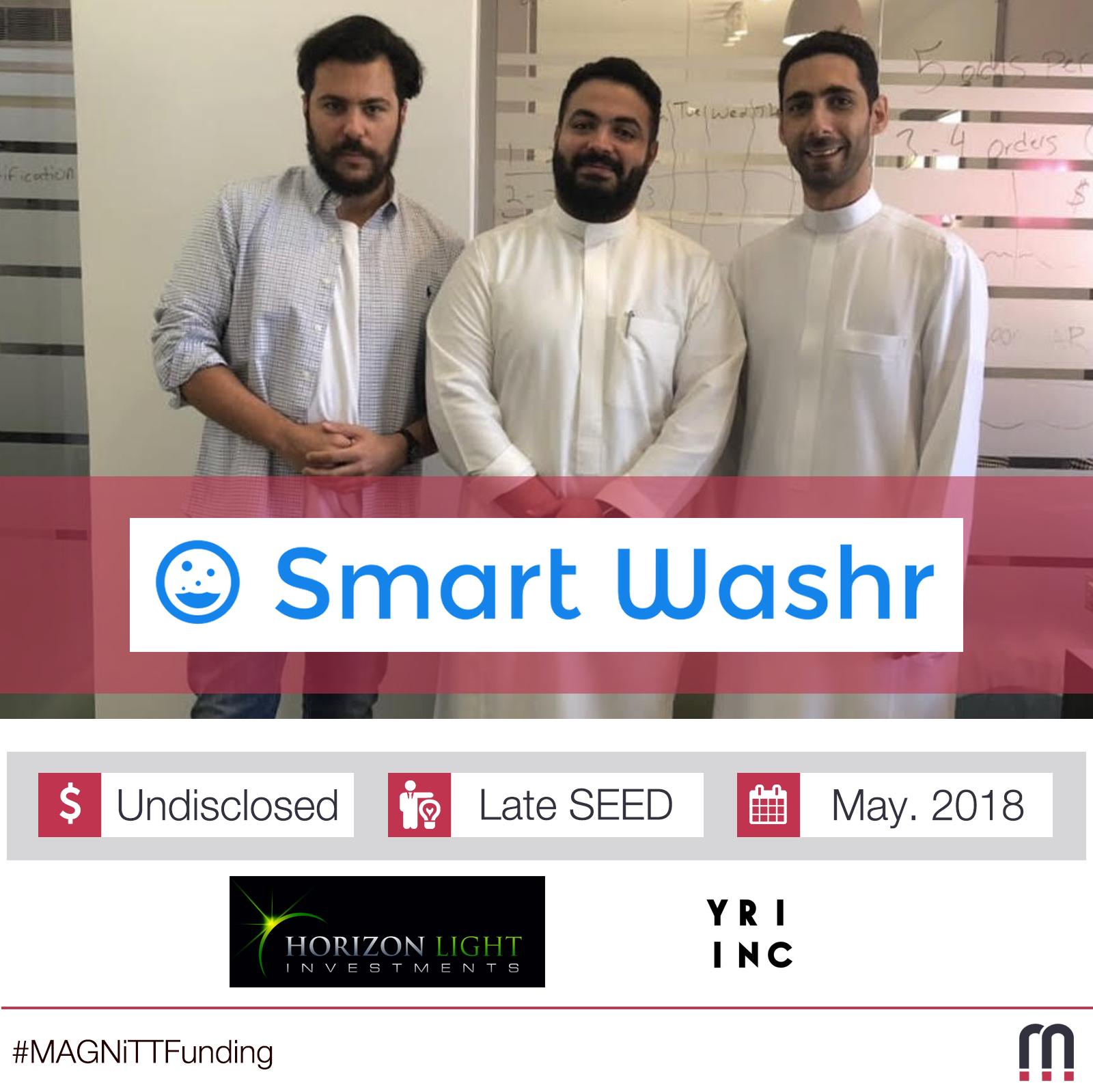 Jeddah-Based Startup Smart Washr Raises Late-SEED Funding Round