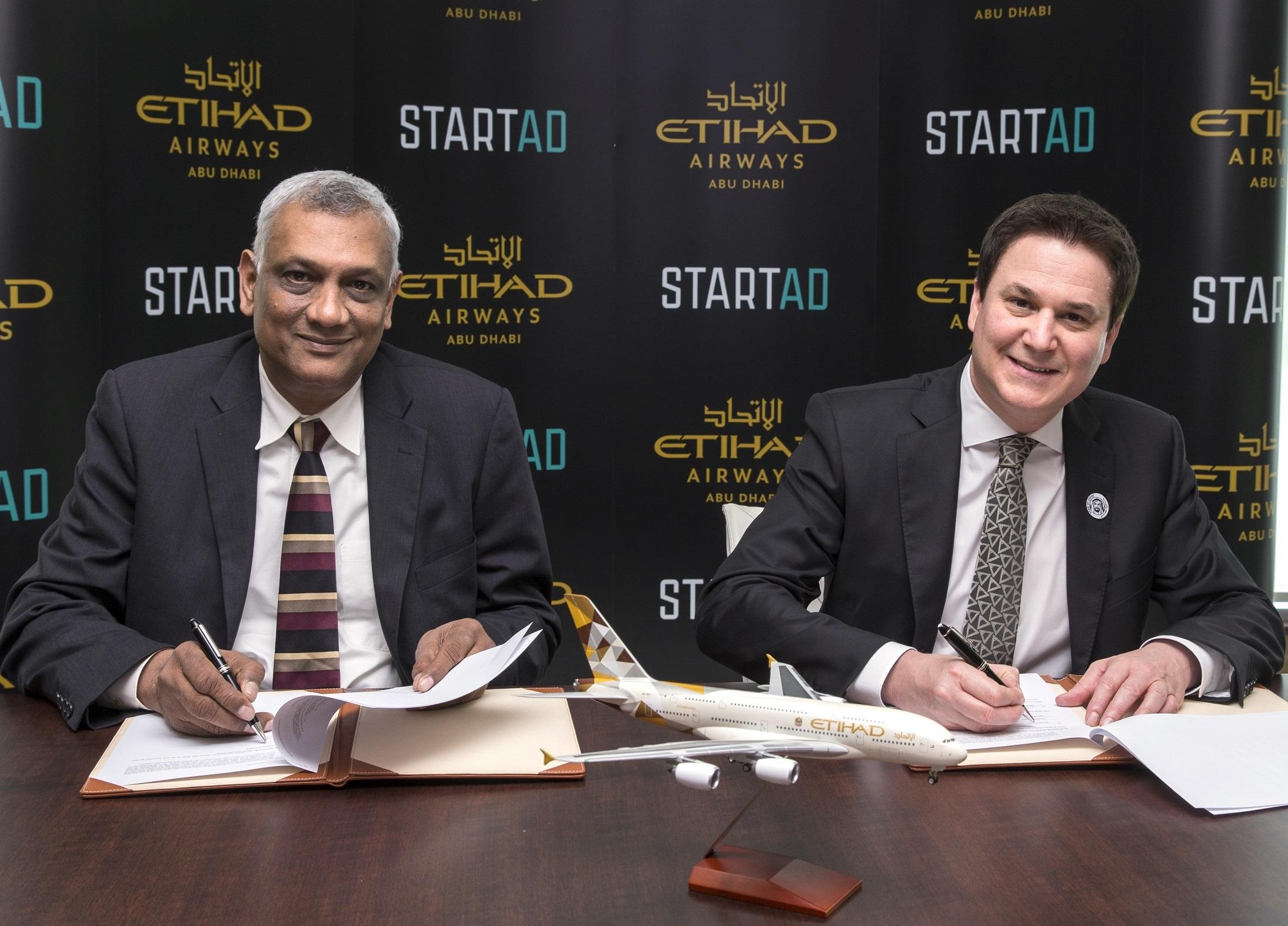 startAD and Etihad Airways partner to develop entrepreneurship ecosystem
