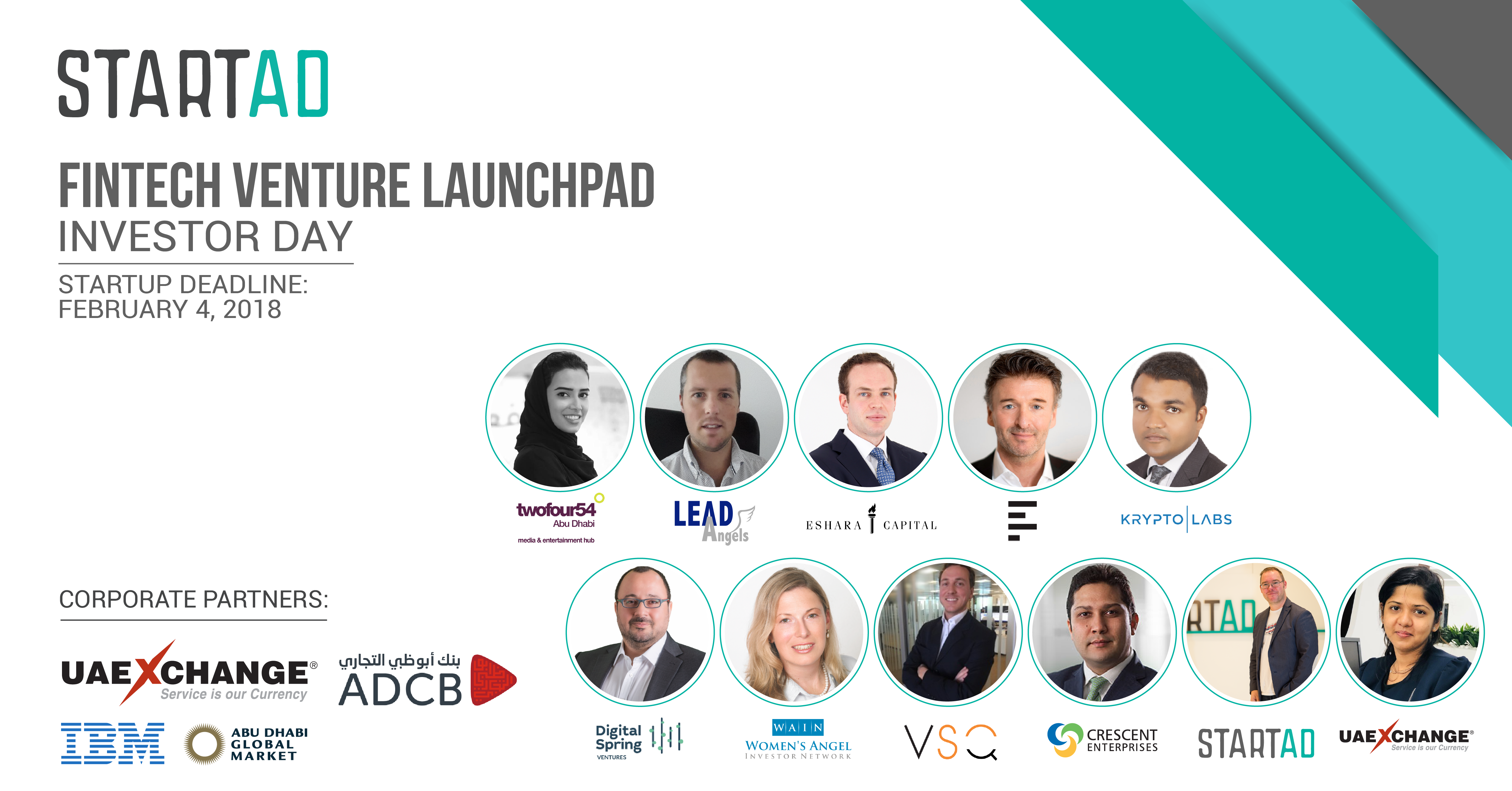 startAD Launches Investor Day for Fintech Venture Launchpad