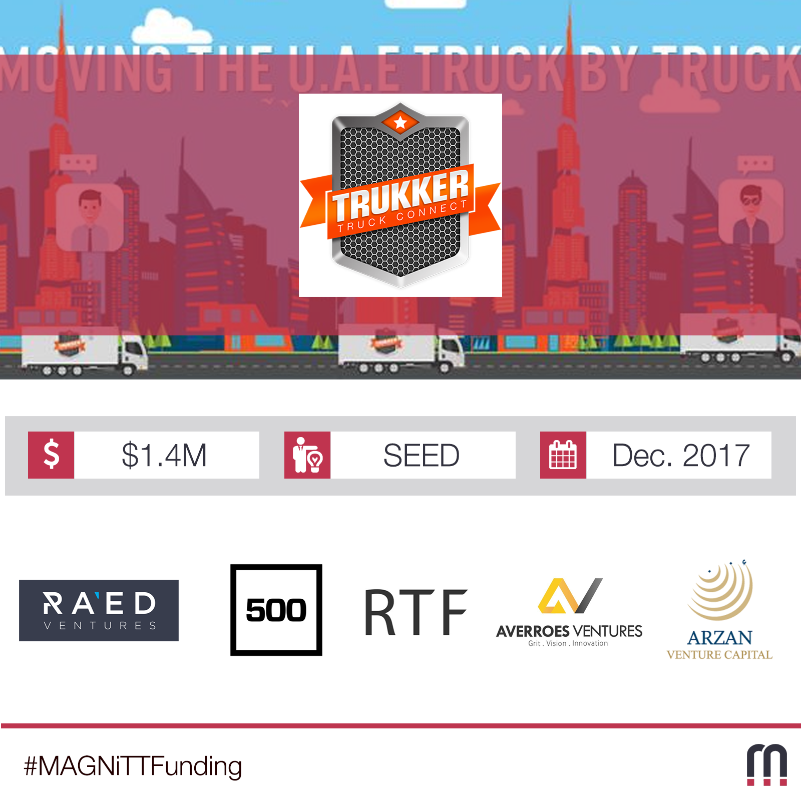 TruKKer raises $1.4M seed round led by RAED ventures along with Riyad Taqnia Fund
