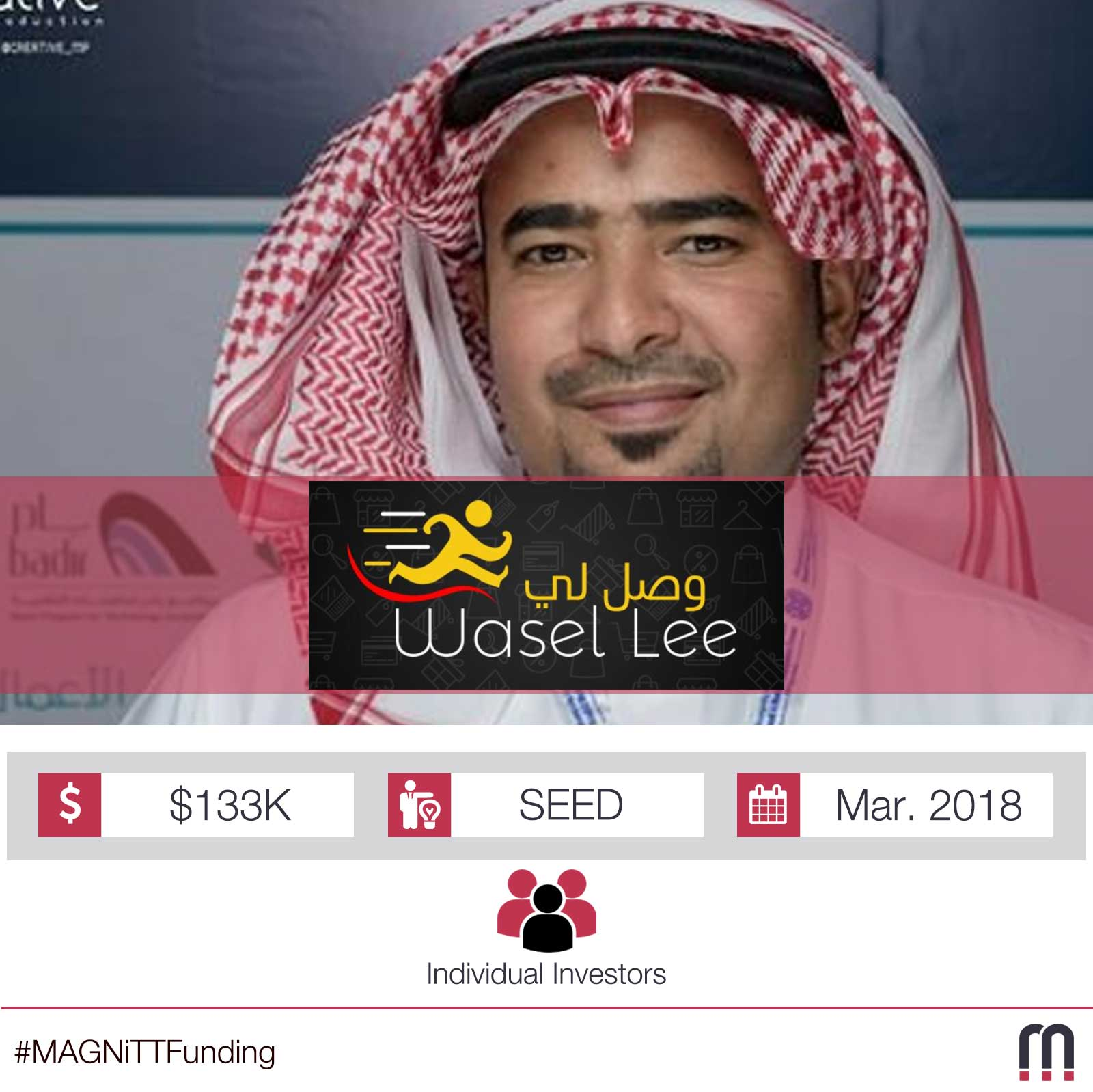 Saudi-based logistics platform Wasel Lee have successfully raised a $133K SEED round!